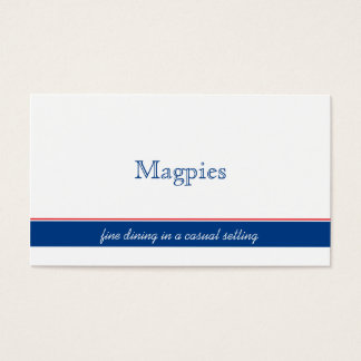 Simple Red, White, Navy Stripe Business Cards