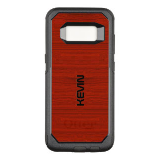 Simple Red Wood Texture OtterBox Commuter Samsung Galaxy S8 Case
