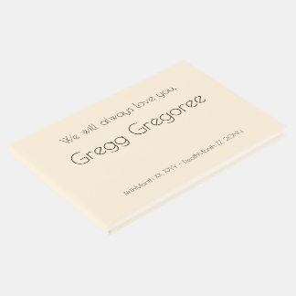 Simple, Respectable Memorial Guestbook