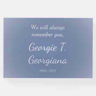 Simple, Respectable Memories Guestbook