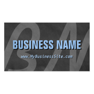 Simple Retro Huge Letters Business Card Gray