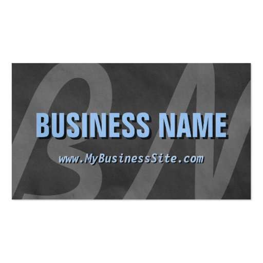 Simple Retro Huge Letters Business Card (Gray)