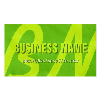Simple Retro Huge Letters Business Card Lime
