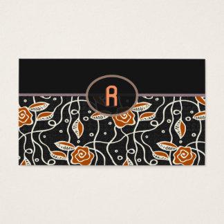 Simple Retro Pattern- Black & Orange