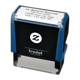 Simple Return Address Custom Text Self-inking Stamp