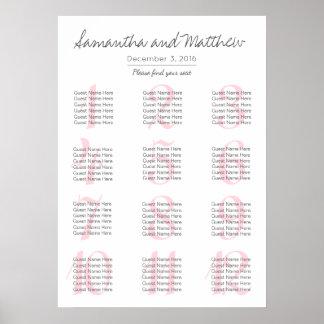 Simple Romantic Blush Wedding | Seating Chart Poster