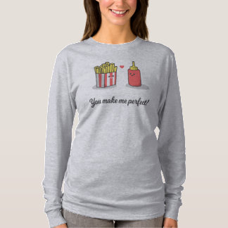 Simple Romantic Cats In Love   Sleeve Shirt