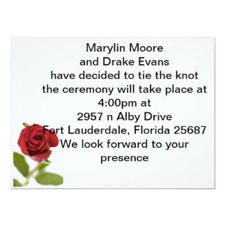 simple rose card