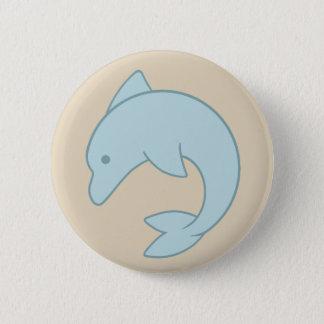 Simple Round Dolphin 6 Cm Round Badge