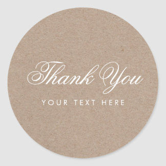 Simple Rustic Modern Thank You Sticker