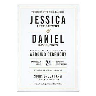 Simple Rustic Wedding Invitation - Floral Back