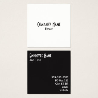 Simple Salt and Pepper Alternating Colors Square Business Card