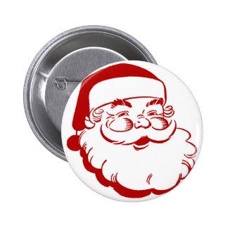 Simple Santa Claus 6 Cm Round Badge