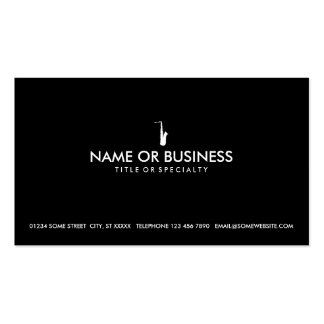 simple saxophone pack of standard business cards
