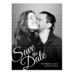 Simple Script Modern Save the Date Photo Postcard