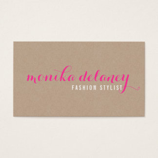 SIMPLE SCRIPT TYPE stylish trendy eco kraft pink