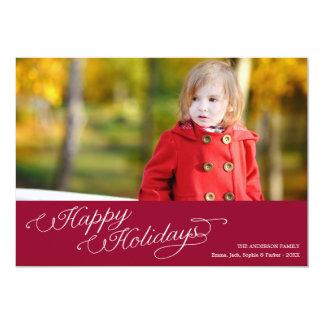 SIMPLE SEASON | HOLIDAY PHOTO CARD 13 CM X 18 CM INVITATION CARD