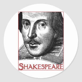 Simple Shakespeare Logo Round Sticker