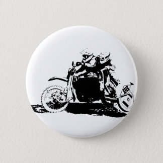 Simple Sidecarcross Design 6 Cm Round Badge