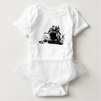 Simple Sidecarcross Design Baby Bodysuit