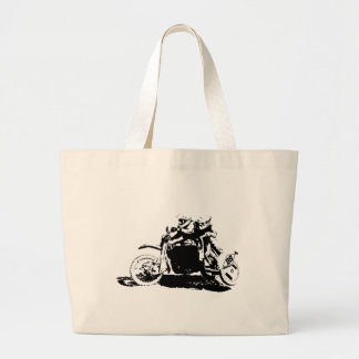 Simple Sidecarcross Design Large Tote Bag