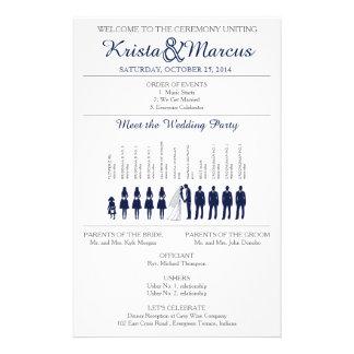 Simple Silhouettes Wedding Program Flyer