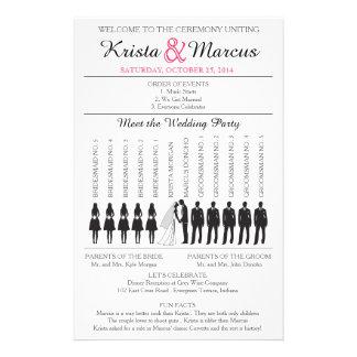 Simple Silhouettes Wedding Program Flyer-5B 14 Cm X 21.5 Cm Flyer