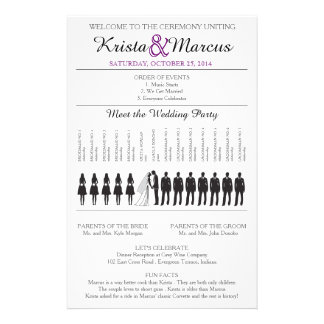 Simple Silhouettes Wedding Program Flyer-6 14 Cm X 21.5 Cm Flyer