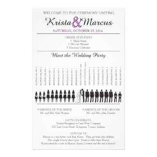 Simple Silhouettes Wedding Program Flyer-8 14 Cm X 21.5 Cm Flyer