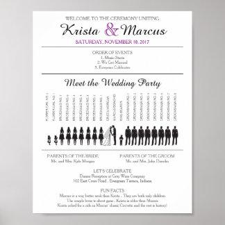 Simple Silhouettes Wedding Program Poster