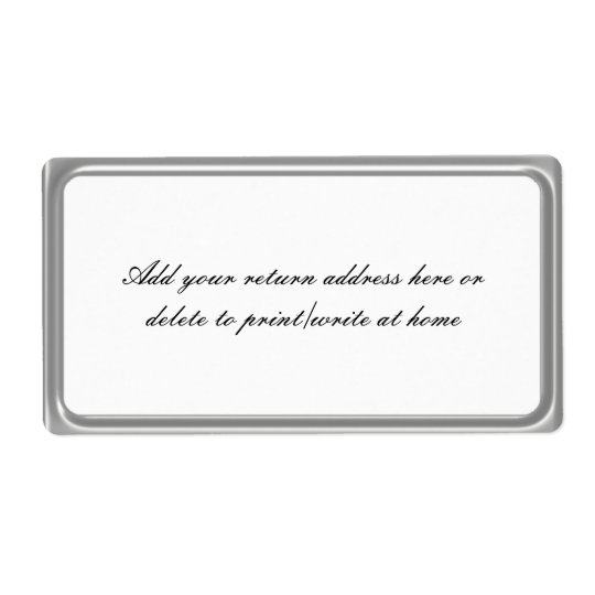 Simple Silver Grey Frame Mailing Labels
