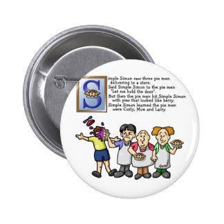 Simple Simon 6 Cm Round Badge