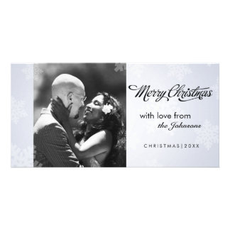 Simple snowflake Christmas photocard Customized Photo Card