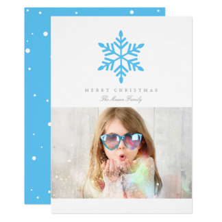Simple Snowflake (Editable Color) Card