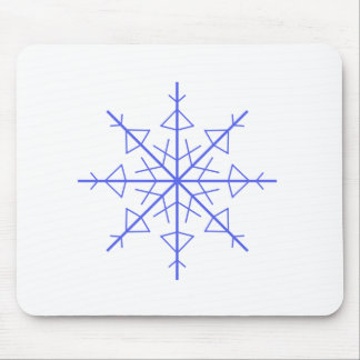 Simple Snowflake Mouse Pad