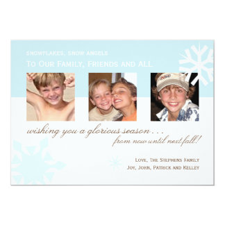 Simple Snowflake Photo Card Invitations