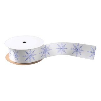 Simple Snowflake Satin Ribbon