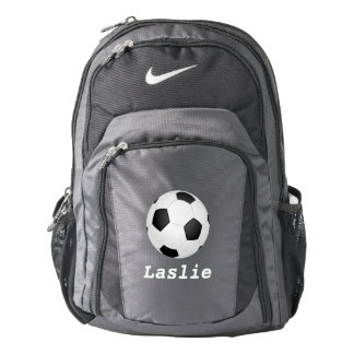 simple soccer ball -  add name backpack