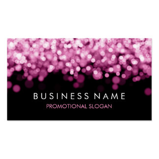 Simple Sparkle Pink Lights Pack Of Standard Business Cards