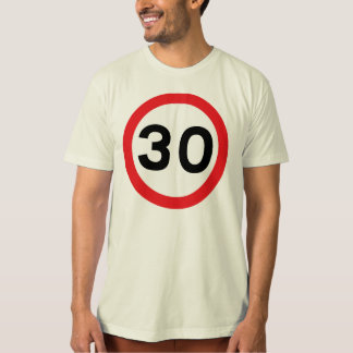 Simple speed limit 30th birthday organic t-shirt