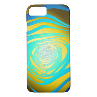 Simple Spiral Blue Yellow - Apple iPhone Case