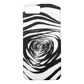 Simple Spiral Warped - Apple iPhone Case