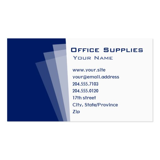 Simple Square Office Paper Business Card