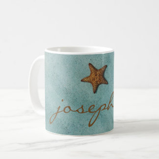 Simple Starfish on the Beach Photo Coffee Mug