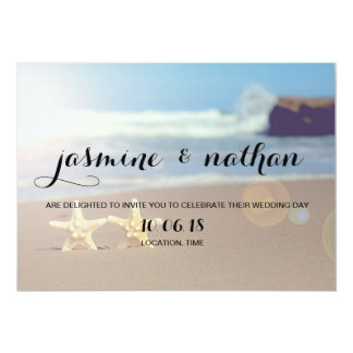 Simple Starfish Wedding Invitation