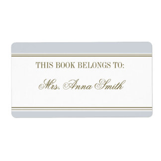 Simple Stripe French Blue Bookplate