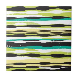 Simple stripe small square tile