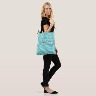 simple stripe tote bag