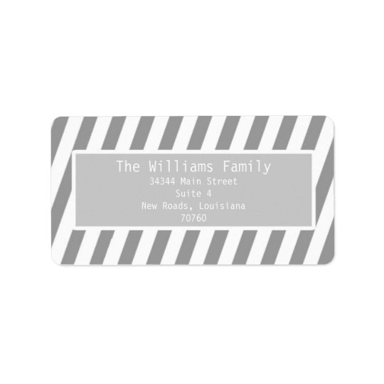Simple Stripes Address Label