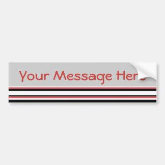 Simple Stripes Bumper Sticker